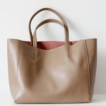Hot Sale Genuine Leather Shoulder Bag For Women Luxury Designer Ladies OL Handbags Female Large Capacity Business Computer Bags