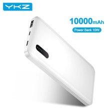 YKZ-Banco de energía de 10000mAh, cargador de batería externo portátil de carga rápida de 10W para iPhone, Xiaomi, Samsung, Poverbank tipo C
