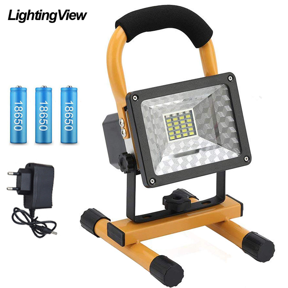 Portable 30W LED Torch Light Outdoor Camping Spotlight Floodlight Rechargeable