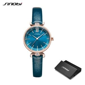 Image 2 - SINOBI montre genève pour femmes, bracelet de styliste, marque de luxe, diamant, Quartz, or, cadeaux pour dames