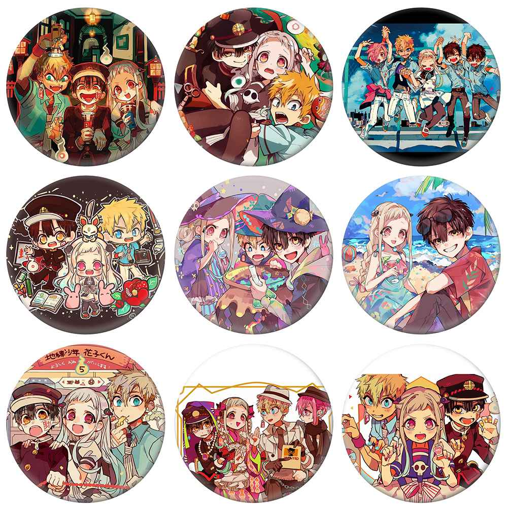 Toilet-Bound Hanako-kun Cosplay Badge Cartoon Character Brooch Pins Collection Bags Button Anime Badges