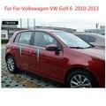 Для Volkswagon Golf 6 2010-2013 высококачественные полосы из нержавеющей стали для отделки окна автомобиля аксессуары для украшения автомобиля Стайли...