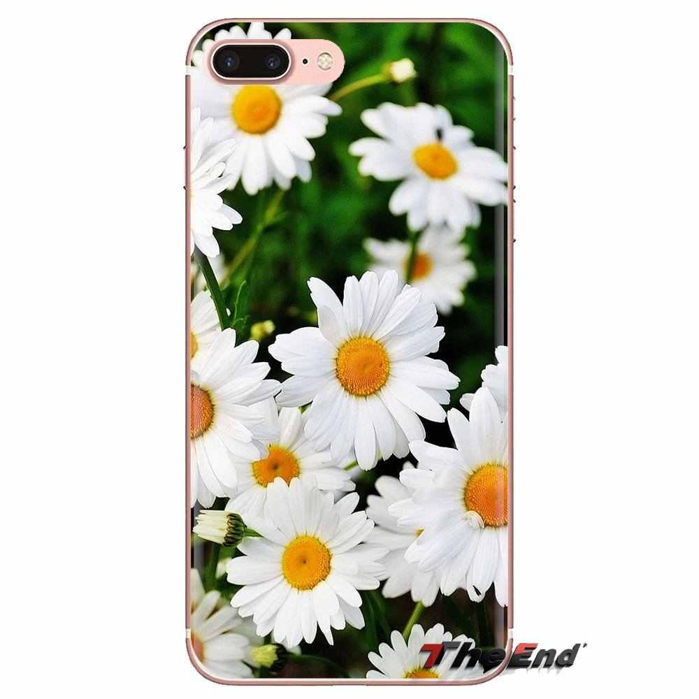 Tatlı papatya çiçek Xiaomi Mi3 Samsung A10 A30 A40 A50 A60 A70 Galaxy S2 not 2 Grand çekirdek başbakan şeffaf yumuşak kılıf kapakları