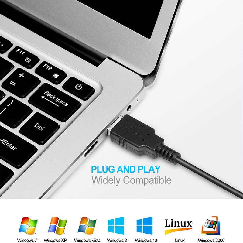 Aigo 1600 Точек на дюйм компьютер Мышь 4-кнопочный USB Оптическая Проводная игровая Мышь бесшумный Мышь совместим с ПК/ноутбук/компьютер/настольный компьютер