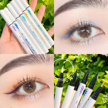 16 cores colorido lápis delineador líquido à prova de manchas à prova dsmuágua olho forro preto verde cosméticos maquiagem ferramentas