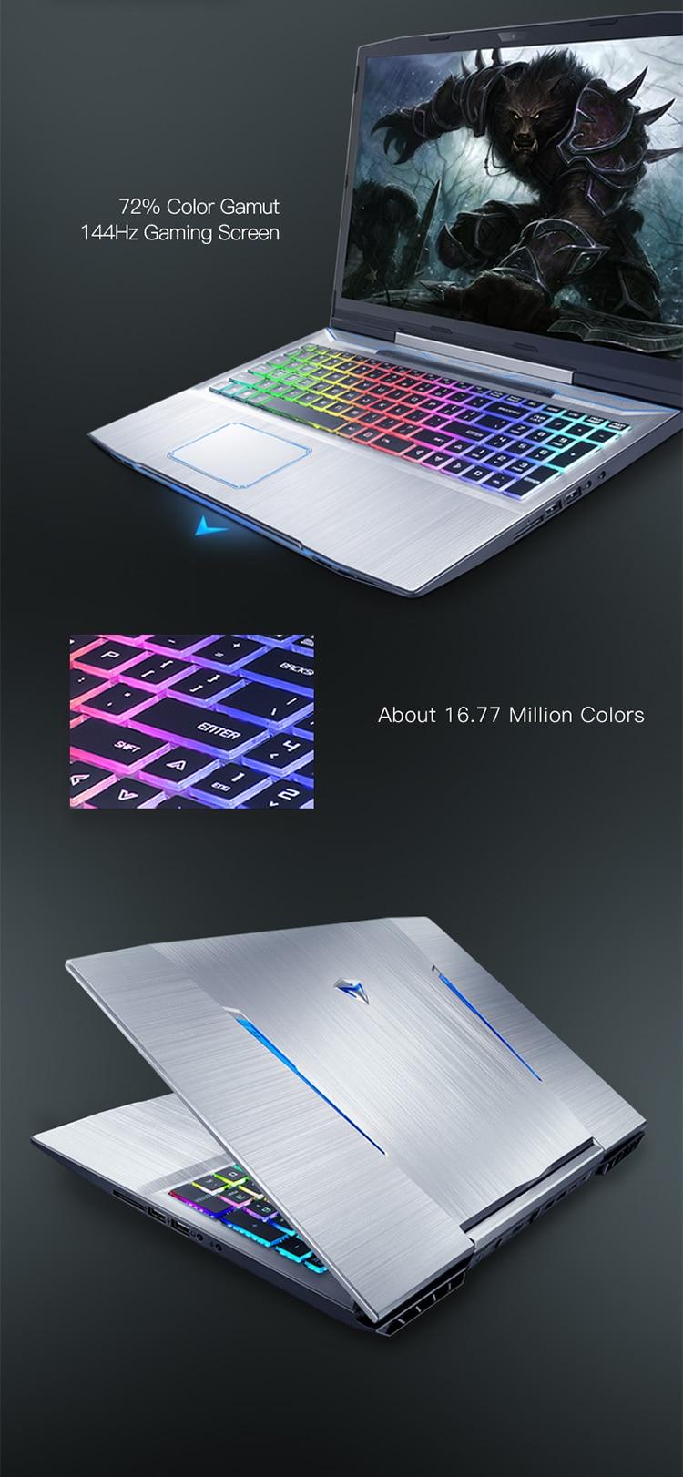H5228e6054edb45c491f5d1192bb244e8r Machenike T90-T6C Gaming Laptop (Intel Core i7-8750H+GTX 1060 6G/8GB RAM/256G SSD/15.6'' 144Hz72%NTSC) Machenike-brande notebook