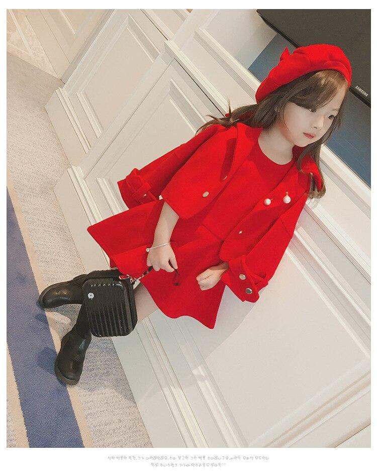 Children Girls Clothing Girls Winter Clothes 2019 Winter Baby Girls Warm Sleeveless Vest Dress +Woolen Jacket Coat 3PCS Sets (3)