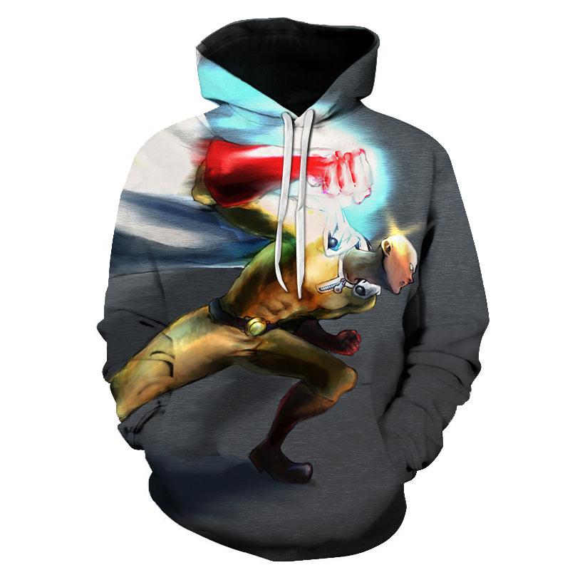 ONE PUNCH-MAN Hero Saitama Oppai Cosplay Costume Men Hoodies  Jacket Sweatshirt