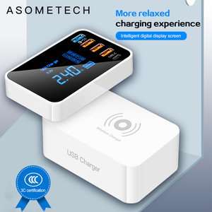 Image 1 - Quick Charge 3.0 Type C USB Charger For iPhone Adapter QI Wireless Charger Led Display Fast Charger For xiaomi huawei samsung