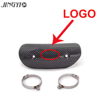 Protective cover for middle pipe protector of moto exhaust muffler FOR Honda cb1000r biz 125 goldwing gl1800 shadow 600 tanie i dobre opinie CN (pochodzenie) 0inch 0 2cm 19 5cm Carbon Fiber Stainless Steel Uniwersalny Anti-scalding cover 0 1kg 7 5cm Exhaust pipe anti-scalding cover