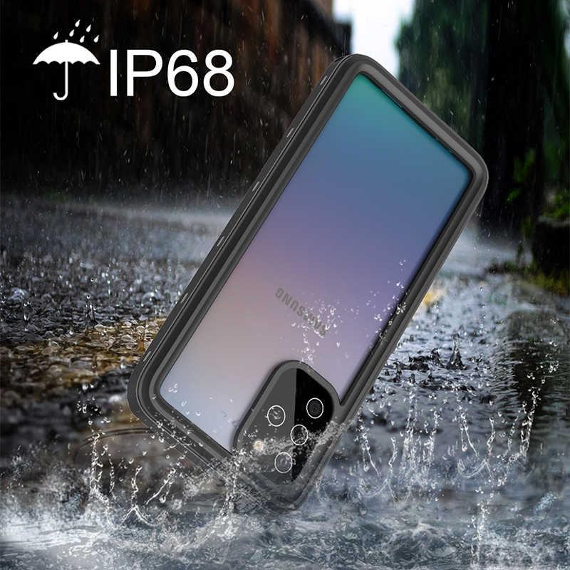 IP68 Không Thấm Nước Ốp Lưng Điện Thoại Samsung Galaxy S20 Cực S10 Plus S10E S9 A51 Note 8 9 10 Thực túi Chống Nước Bảo Vệ Da
