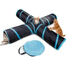 Pet Supplies Cat Toys Five-way Tunnel Puzzle Toy Drill Bucket Folding Channel Dog Catnip