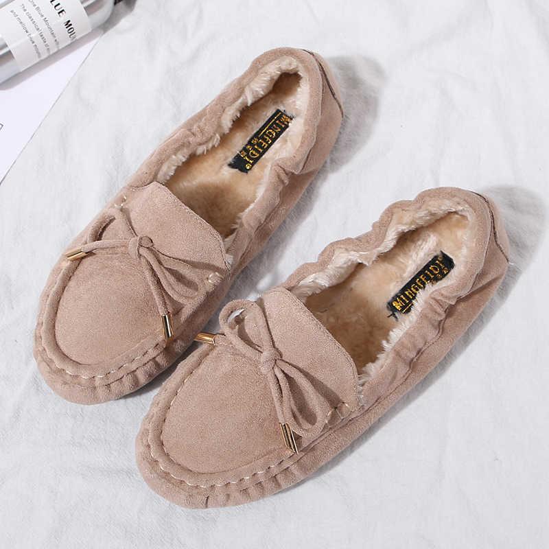 Giày Nữ Mùa Đông 2019 Thương Hiệu Thiết Kế Giày Oxford Cho Nữ Cho Nữ Khóa Bãi Xanh Đen Nữ Cuộn Trứng Mềm Mại Ba Lê giày