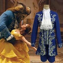 Костюм зверя, фильм принц Красавица и Чудовище Косплей Костюм Хэллоуин костюмы для взрослых наряд косплей для мужчин