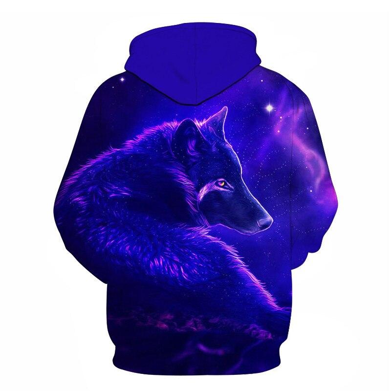 Wolf Printed Women 3d Hoodies Brand Sweatshirts Girl Boy Jackets Pullover Fashion Tracksuits Animal Streetwear Lovers Sweatshirt 74