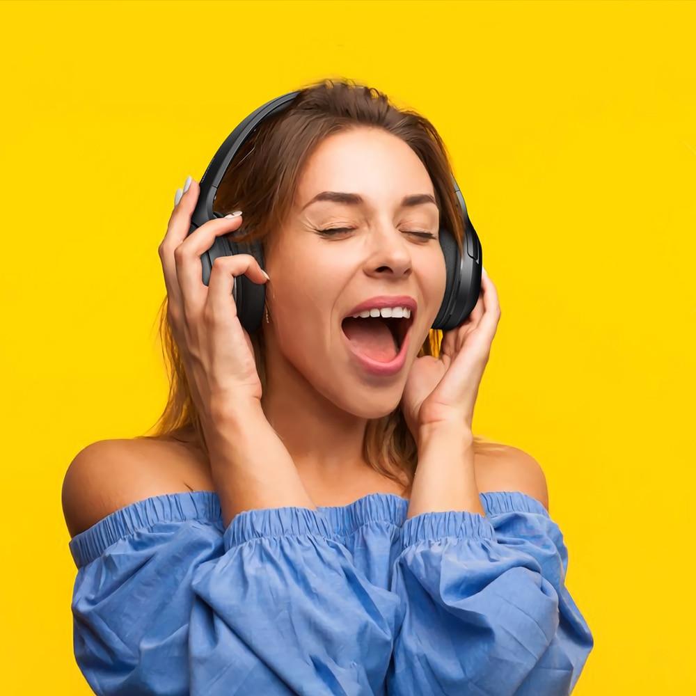 DACOM HF002 auriculares Bluetooth con cable auriculares estéreo inalámbricos micrófono incorporado controlador Dual 4 altavoces para TV iPhone Samsung Xiaomi - 6