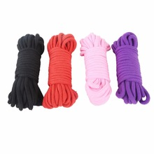 5M Sex Slave Bondage Rope Soft Cotton Knitted Rope BDSM Restraint Sex Toys For W