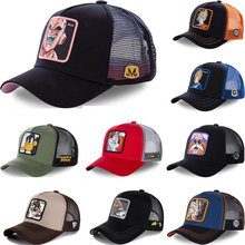 Todas as marcas anime dragon ball z 62 estilos snapback boné de beisebol de algodão masculino feminino hip hop pai malha chapéu camionista dropshipping