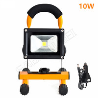1pcs 10w led flood lighting rechargeable Led emergency lamp Portable Spotlight battery powered waterproof outdoor led spot lamp