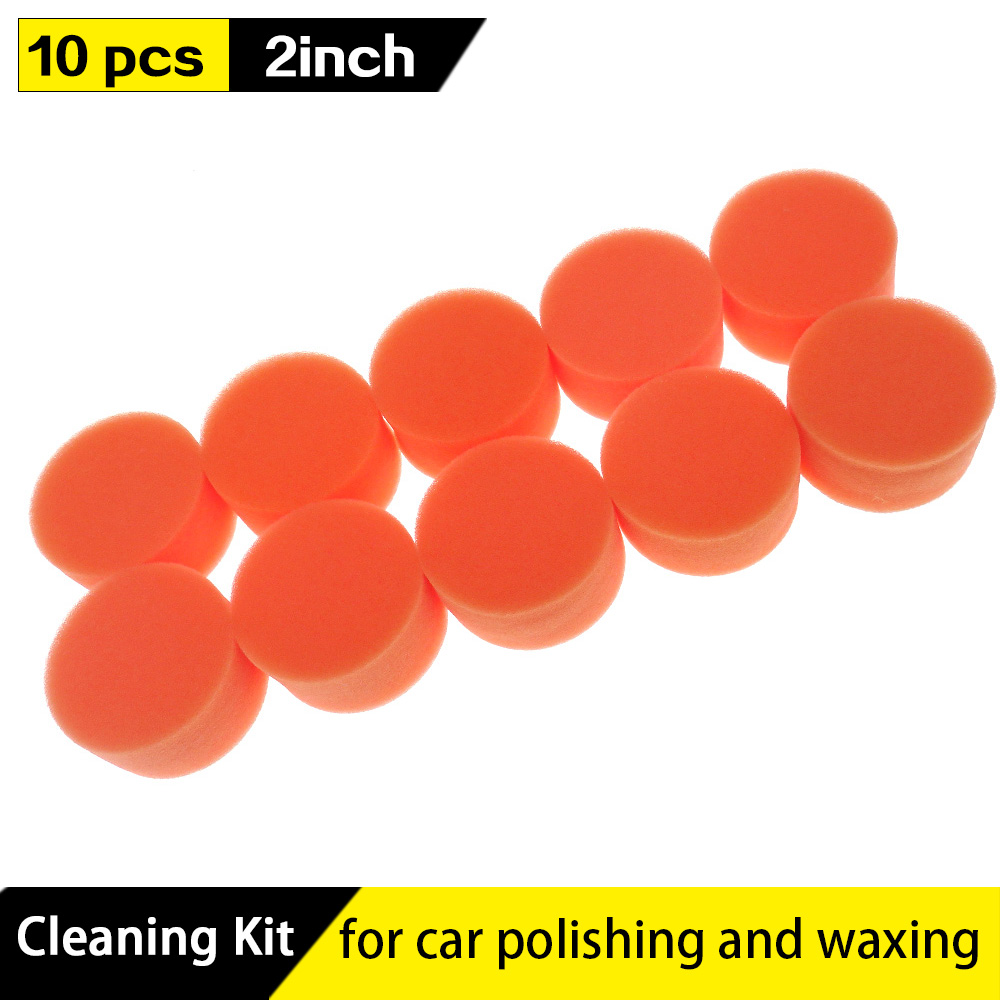 2 Inch 50mm Gross Polishing Buffing Pad Flat Sponge Car Polisher Buffer Pads Clean Waxing Auto Paint Maintenance Care,pack Of 10