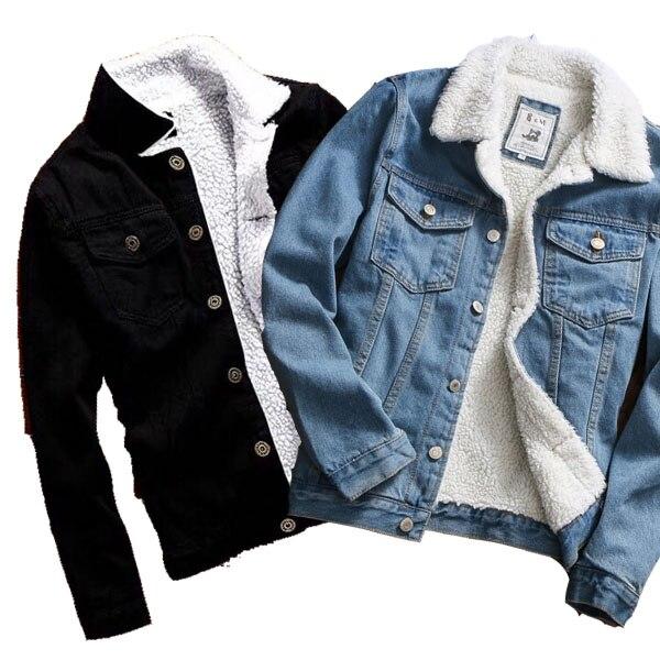 ZOGAA Hot Sale Men Jacket and Coat Trendy Warm Fleece Denim Jacket 2018 Winter Fashion Men Jean Jacket Outwear Male Cowboy