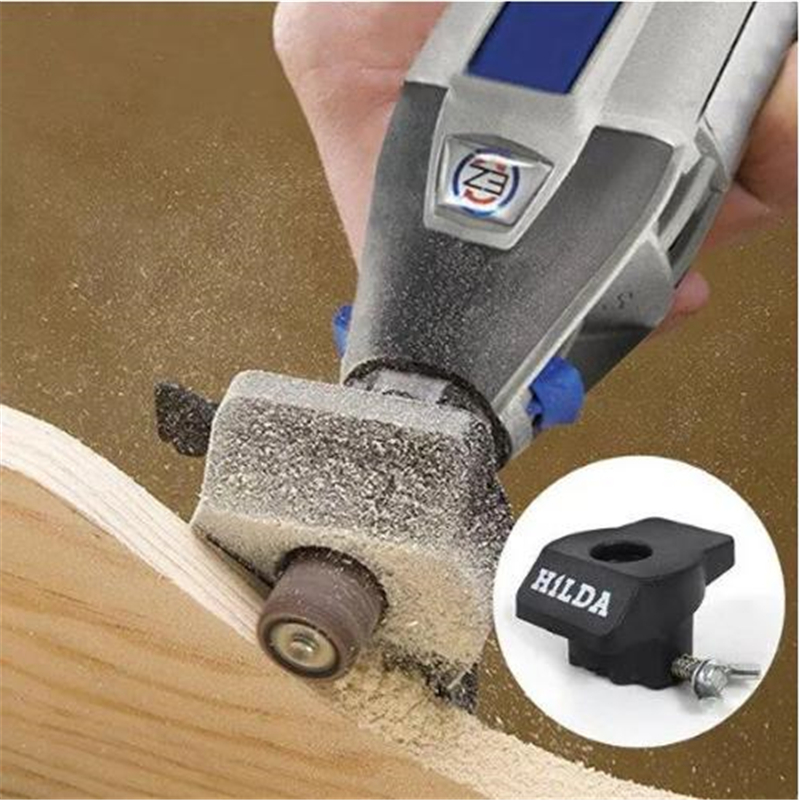 HILDA Sanding and Grinding Guide Attachment Locator Positioner for Rotary Dremel Tool Drill Adapter Woodworking Accessories