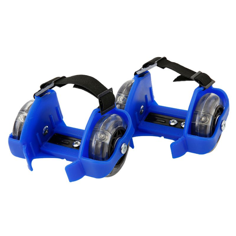 Outdoor Unisex Adjustable Colorful Flashing Roller Pulley Flash Wheels Roller Skating Shoes For Kids Adult Toy