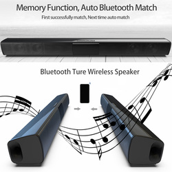 Home Theater Remote Control Outdoor Powerful Bluetooth Speaker Sound Bar Indoor Portable Multifunction Rechargeable Wireless