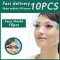 Защитная маска для очков 10 шт./лот, защита для лица, защита от срыва жира, изоляционная маска, прозрачный пылезащитный козырек для домашних ж...