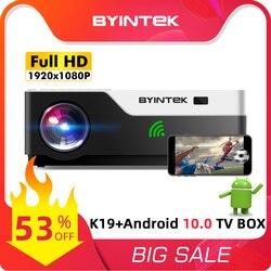 BYINTEK K11 Full HD 1080P Video Game LED 3D 4K Projector Beamer(Optional Android 10 TV Box for Smartphone)