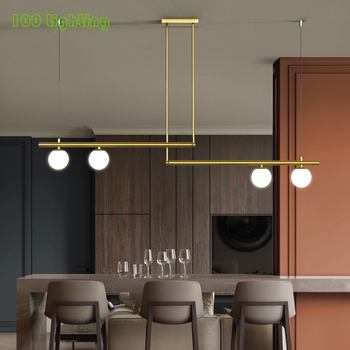Modern Minimalist LED Chandeliers Restaurant Bar Kitchen Pendant lamp Coffee Shop Hanging Light Fixture 110-260V Loft Suspension modern pendant lights spherical design white aluminum pendant lamp restaurant bar coffee living room led hanging lamp fixture