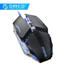 Orico Macro Game Mouse Led 150 Cm Gevlochten Wired Gaming Mouse Voor Pc Computer Laptop Muizen Verstelbare 3200 4 Dpi muis Gamer(China)