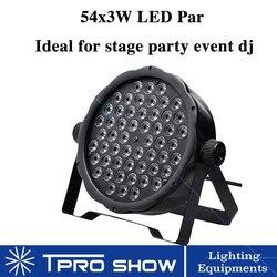 54x3w Led lampa Par Rgbw płaskie światła dj-skie mycia LED stroboskop ściemniania kolorowe zmiana oświetlenie sceniczne DMX efekt dla klubu Party Disco
