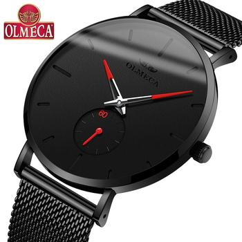 OLMECA Men's Luxury Fashion WristWatch Chronograph Luminous Hands 30M Waterproof Quartz Watches Auto Date Relogio Masculino