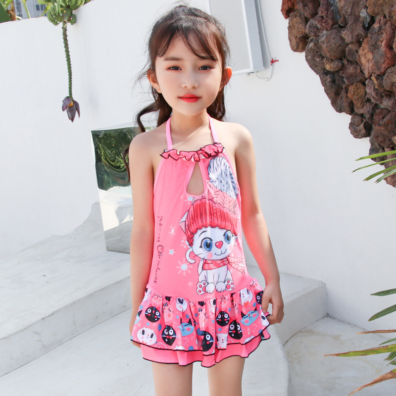 KID'S Swimwear Women's South Korea Split Type Cute Baby Infant GIRL'S Swimsuit Little Princess Skirt Big Boy Tour Bathing Suit