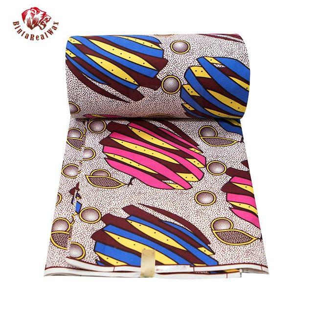 Tissu imprimé en cire Polyester 2020 Ankara | Nouvelle cire bintareal de haute qualité 6 yards, tissu africain pour robe de soirée FP6316