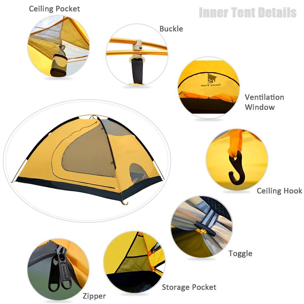 GeerTop 4-6 Person Roof Top Waterproof Durable Camping Tent