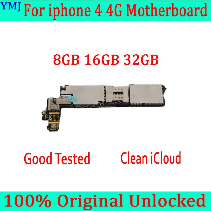 8GB 16GB 32GB für iphone 4 Motherboard mit Freies iCloud, original entsperrt für iphone 4 4g Mainboard mit Voller Chips, Gute Getestet