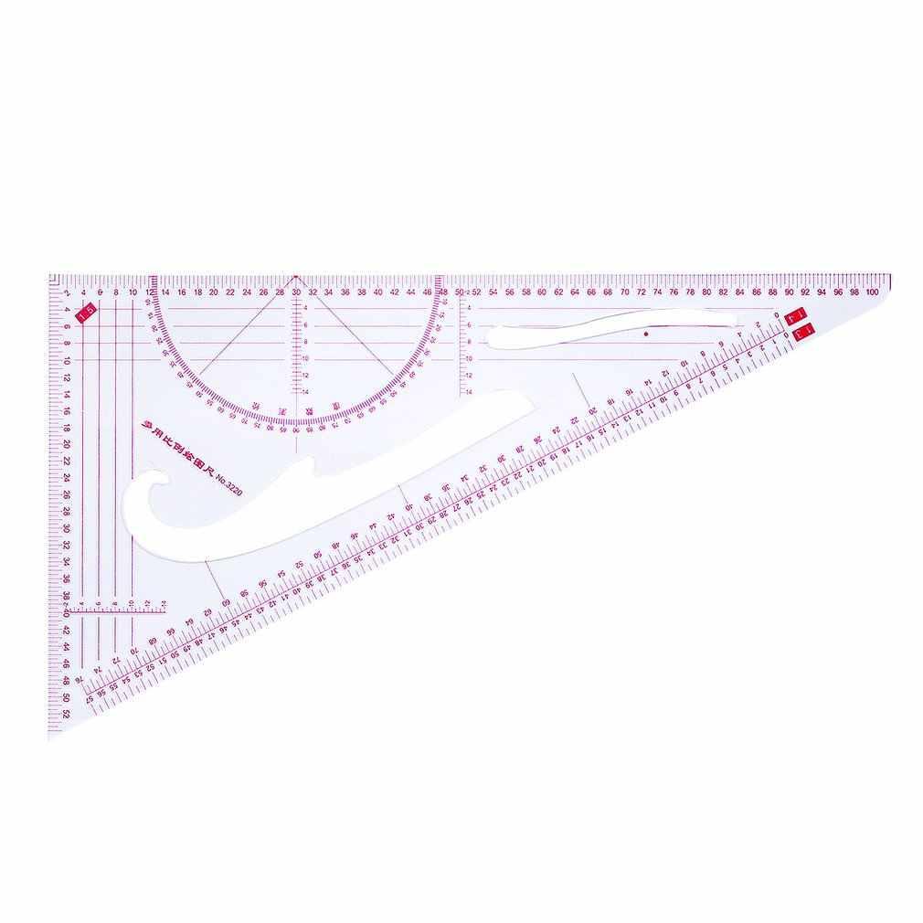 Multi-funzionale di Bordo Curva Comune Modello di Disegno Modello Righello Strumento di Progettazione Trasparente Bilancia di Alta Precisione Su Misura Strumento
