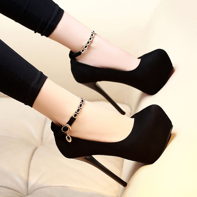 Sexy Rhinestone Platform Heels Shoes Pumps High Heels Women Shoes Ladies Wedding Shoes Bridal Shoes Black 12/14cm Heels