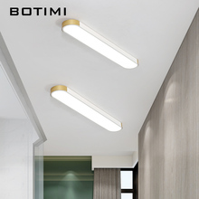 BOTIMI Modern 220V LED Ceiling Lights For Office Surface Mounted White Lamp Remote Control Bedroom Lighting Fixture