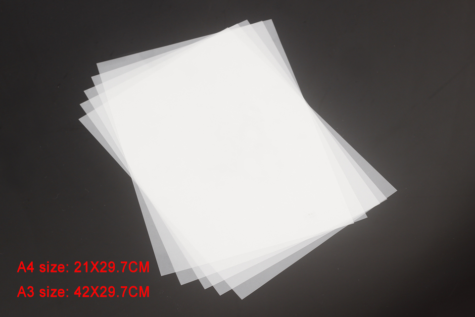 filme fosco transparente de tinta branca para