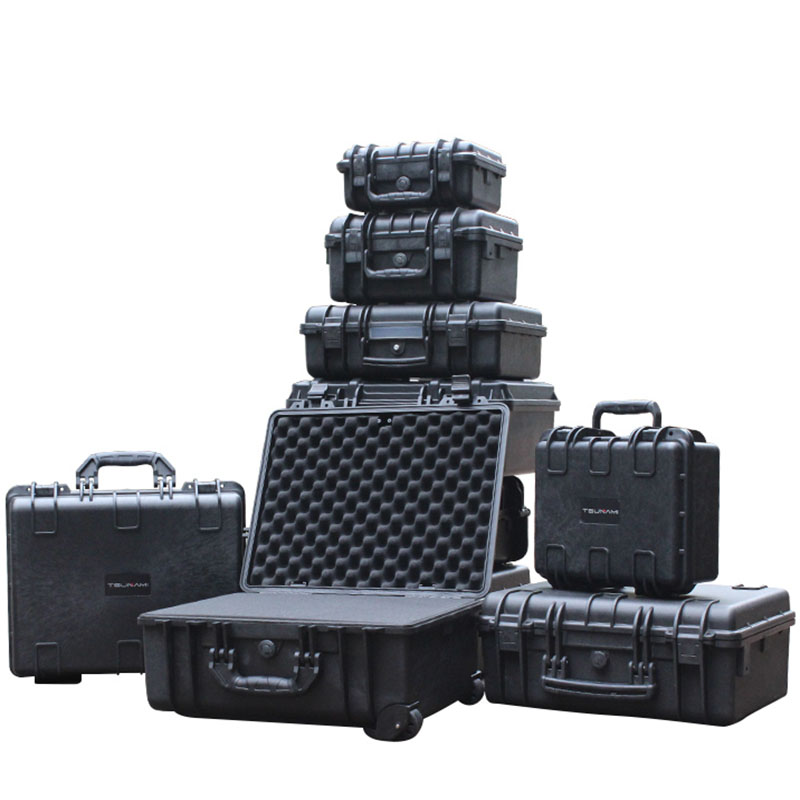 Tool Case Impact Resistant Safety Box Instrument Case Suitcase Toolbox File Box Equipment Camera Case With Pre-cut Foam Lining