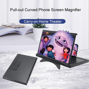 Image 3 - 12インチhdビデオ映画アンプ3D携帯電話画面拡大鏡プロジェクター折りたたみデスクホルダーiphone xiaomiすべてスマートフォン