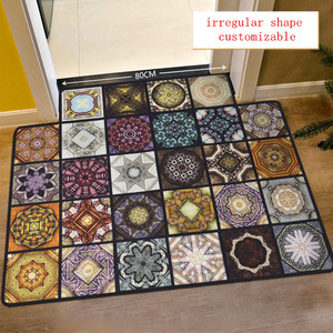 Image 2 - Fashion Parquet Muslim carpet for living room Vintage American Rug non slip floor mat for bedroom customizable Door Mat