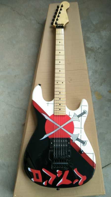 Top qualité FDST-1087 Charvel San Dimas 25th anniversaire épée modèle corps trémolo guitare électrique, livraison gratuite