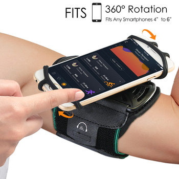 Universal Waterproof Gym Running Sports Armband for iPhone X 8 7 Case Cover Holder Arm Band Wrist Case Bag for 4 to 6 Inch Phone