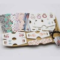 50pc karta biżuterii + 50 krotnie naklejki za dużo kolczyki i naszyjnik karty graficzne DIY Handmade biżuteria naszyjnik zestaw karta identyfikacyjna