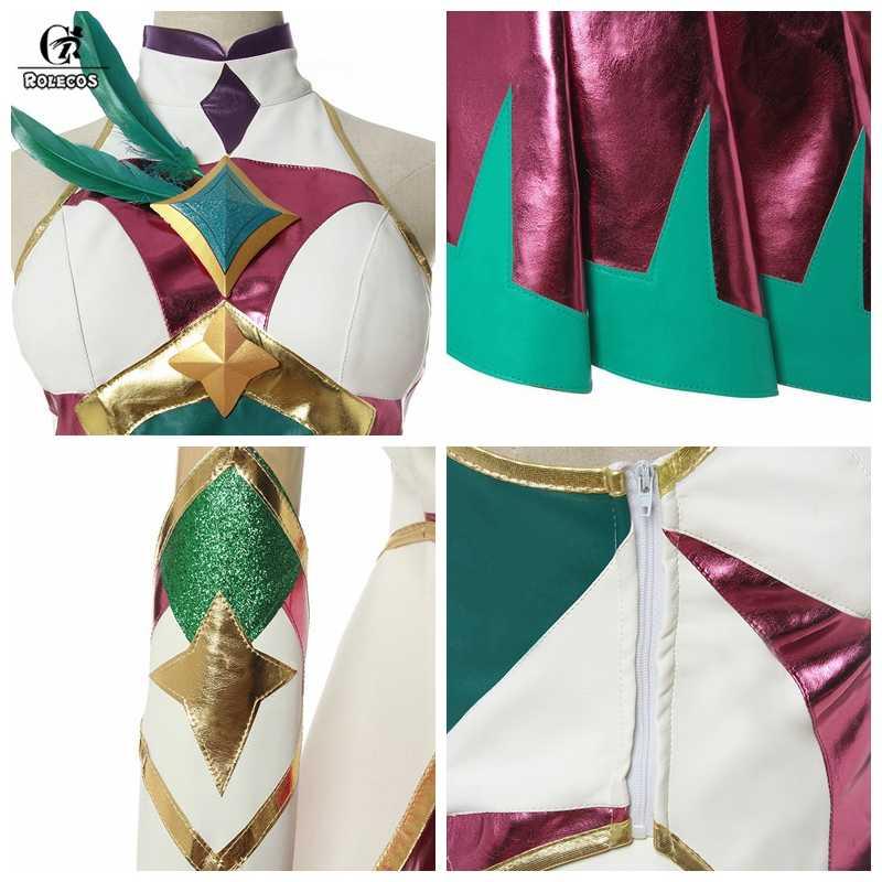 ROLECOS Star Guardian Xayah Косплей Костюм LOL светильник Xayah косплей костюм из игры Rebel женский плащ Xayah покрытие для обуви Хэллоуин