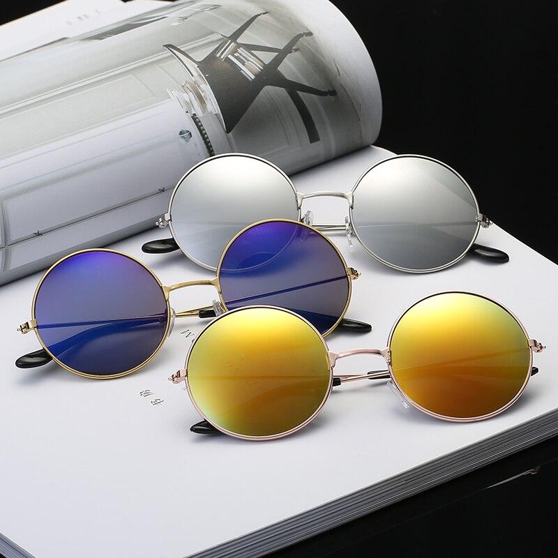Fashion Round Metal Frame Sunglasses Men Women Retro Classic Prince Mirror Circle Round Sunglasses Muti-Colors Optional Unisex